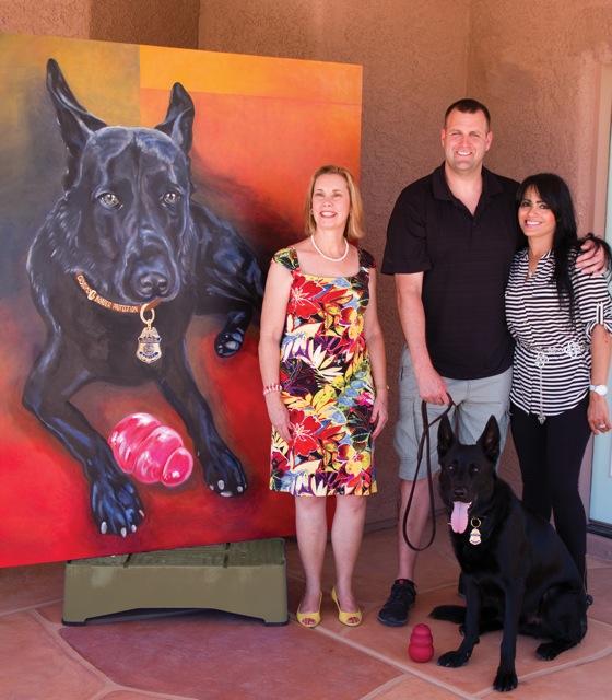 Leo 5' x 6' canvas Leo with Josh and Raiza and me!